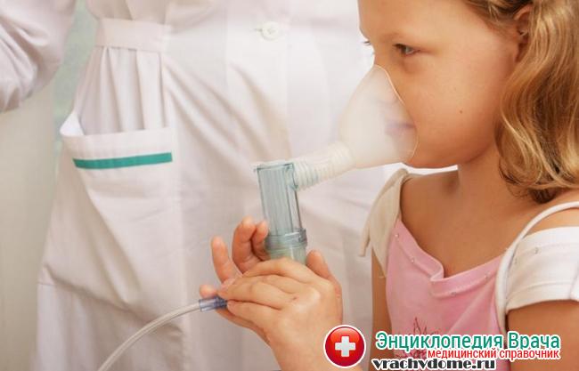 Ингаляции - один из методов лечения тонзиллита у детей