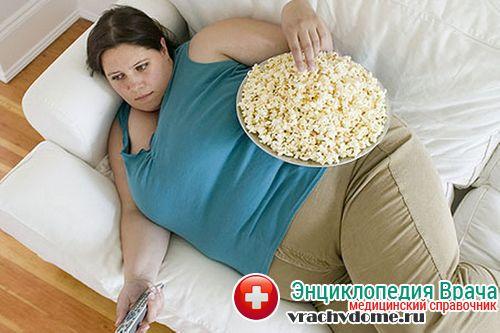 ожирение причины