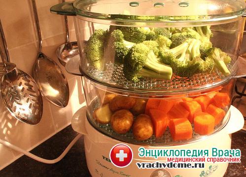 Вся пища используется только в приготовленном на пару виде, при этом она также должна быть комнатной температуры