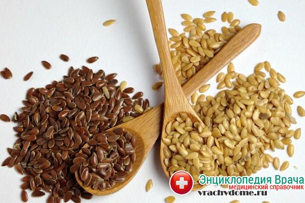 Отвар из семян льна используют в лечении отека легких