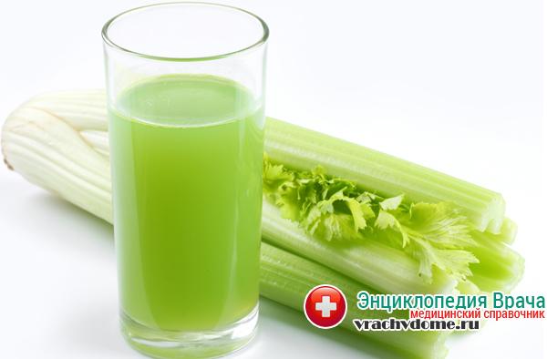 Сок сельдерея - хорошее средство при заболевании почек