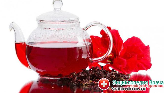 Чай каркаде помогает нормализовать функцию щитовидной железы