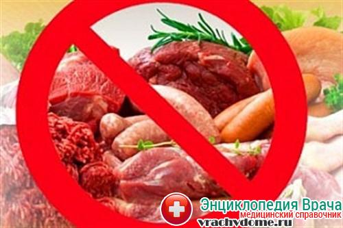 При данном заболевании запрещены продукты животного происхождения