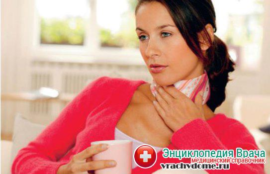 Появление болезненных ощущений в горле во время глотания
