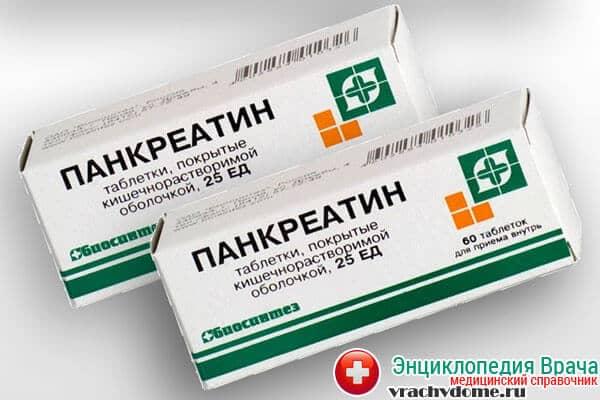 Список препаратов для улучшения пищеварения - Панкреатин