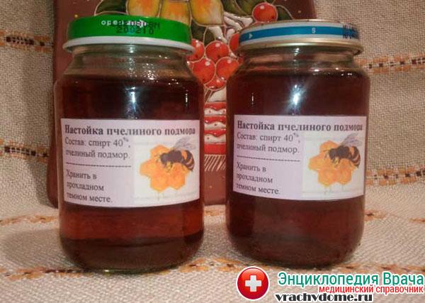 Настойка на спирту пчелиного подмора