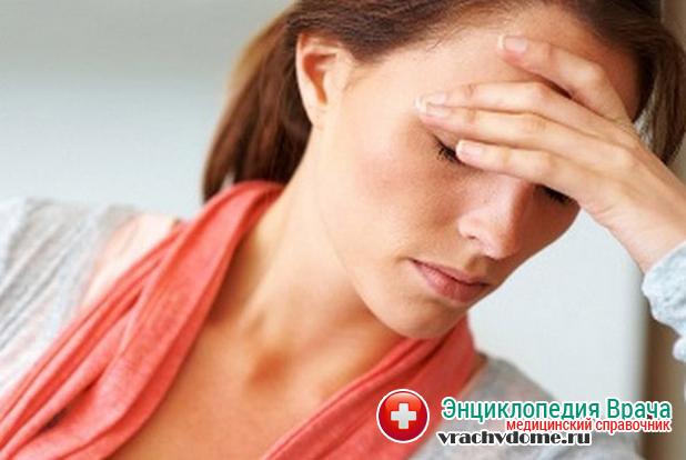 Головная боль и слабость один из признаков заболевания