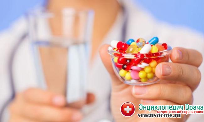 Использование антибактериальных препаратов широкого спектра при заболевании