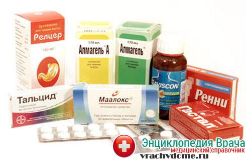 Лекарственные средства от изжоги группы антацидов