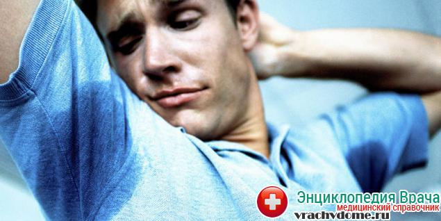 Гипергидроз в области подмышек доставляет человеку большие неудобства