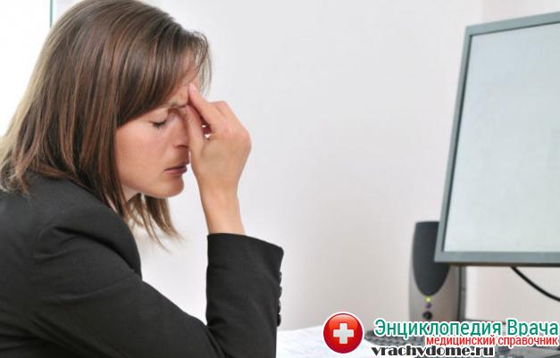 Переутомление глаз - одна из причин астигматизма