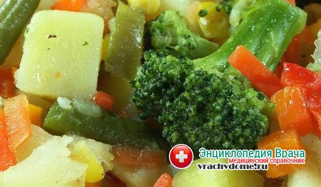Можно употреблять вареные и тушенные овощи