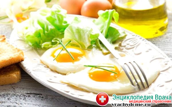 Яичница без масла на завтрак