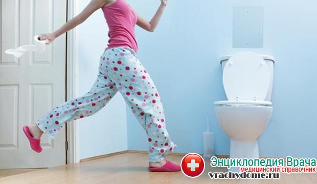 Первый и основной симптом лямблиоза – ярко-выраженная диарея