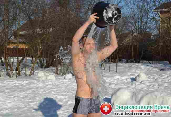 Профилакттика заболевания - закаливание организма – обливание холодной водой или контрастный душ