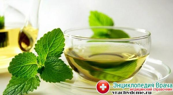 Можно принимать лекарственный отвар мяты, который обладает успокаивающим действием, содействует лучшему перевариванию пищи