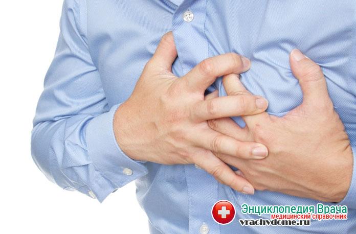 Причиной развития сердечной недостаточности часто бывает инфаркт, аритмия тяжелой формы или острый миокардит
