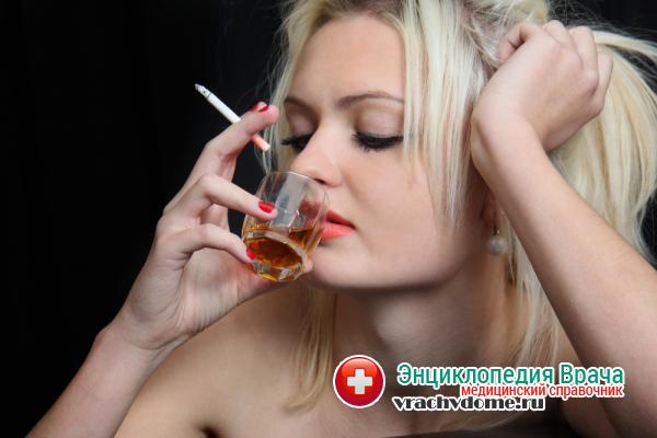 Вредные привычки провоцируют развитие болезни