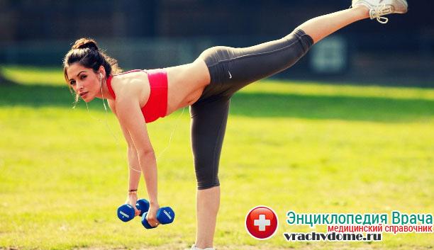 Занятия спортом - отличное средство для профилактики болезни