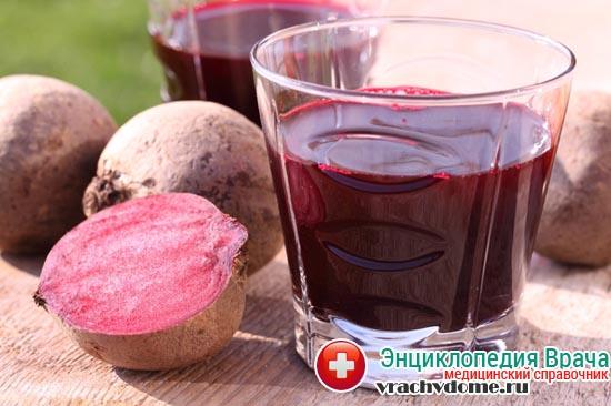Свекольный сок - популярное народное средство от аденоидов