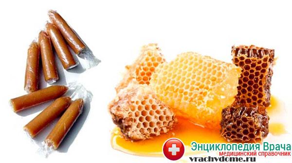 Тампоны и свечи с медом