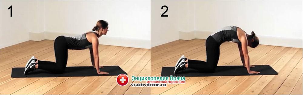 Упражнения при люмбаго и боли в пояснице: прогиб спины